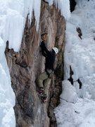 Rock Climbing Photo: Mixed climbing at the Ouray Ice Park
