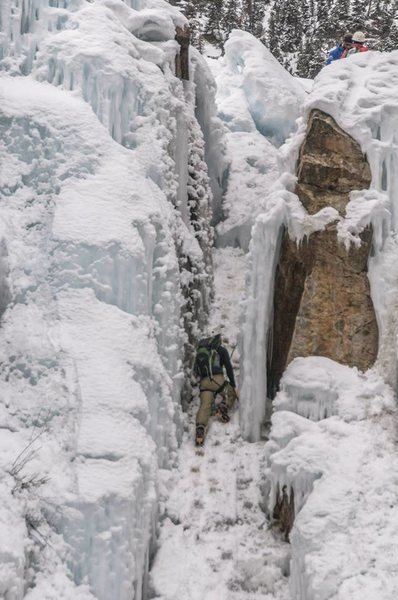 Ice climbing Ouray Ice Park