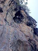 Rock Climbing Photo: Onsight Nuat Hin (Massage The Rock) Railay Bay Tha...