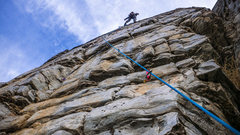 Rock Climbing Photo: is it a 5.10 if you use no hands?