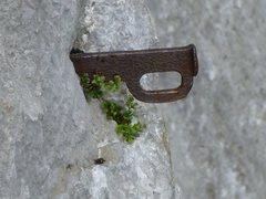 Rock Climbing Photo: Old piton at Valle de Quirós