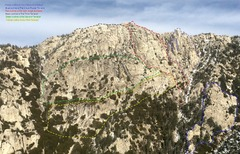 Rock Climbing Photo: Devils Staircase as seen from summit of Tahquitz!!...