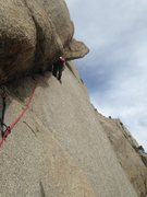 Alexis Crellin on the onsight of Crescent Crack Direct Variation.