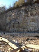Rock Climbing Photo: Orange Oswald Wall, Summersville Lake - March 2014