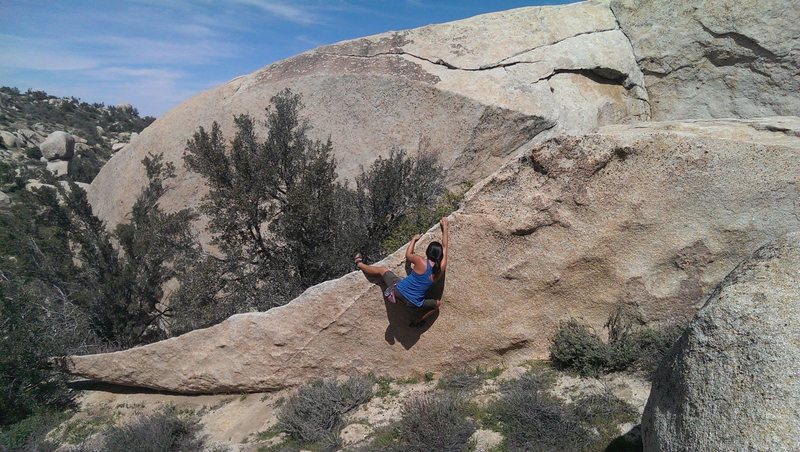midway through the blade traverse