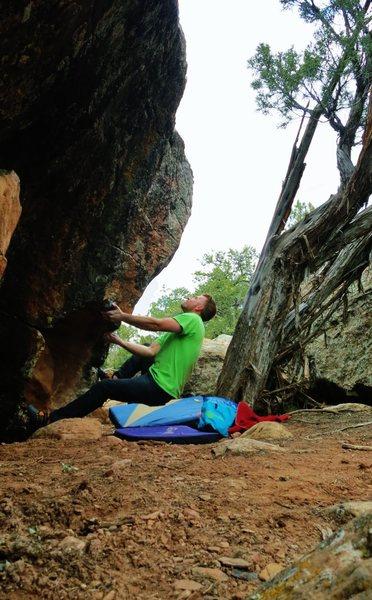 Rock Climbing Photo: Start beta of Spartahug.