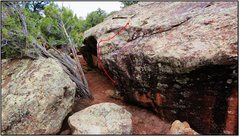 Rock Climbing Photo: Spartahug problem beta.