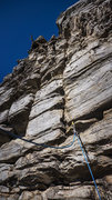 Rock Climbing Photo: P4 from top of P3 buttress platform