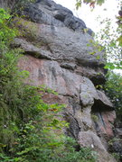 Rock Climbing Photo: The detached right side of Puttlacher Wand.
