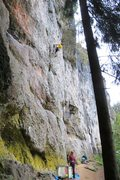 Rock Climbing Photo: Near the end of the mellow introductory moves. of ...