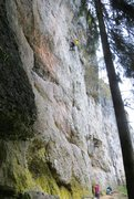 Rock Climbing Photo: From this point it's basically a sprint to reach f...