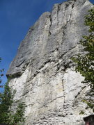Rock Climbing Photo: The rope is hanging through the anchor of Bernd Ar...