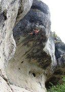 Rock Climbing Photo: Devious pocket yarding eventually gains the lip of...
