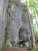 Rock Climbing Photo: Looking along the cliff to the north from below Te...