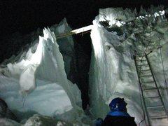 Rock Climbing Photo: Rainier ladder set up