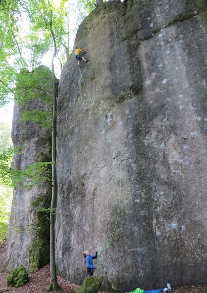 Rock Climbing Photo: Deeper incut pockets begin to appear as you approa...