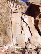 Rock Climbing Photo: Walkin' On Air is the arching crack on the right t...