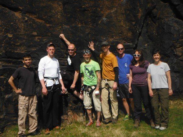 Rock Climbing Photo: Moss Island Group