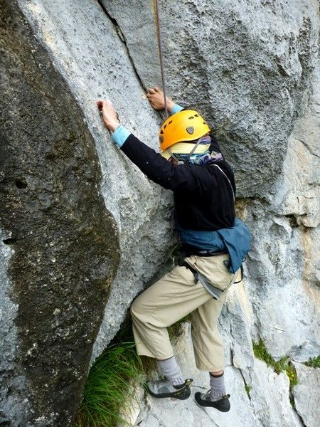 Rock Climbing Photo: Start of the second pitch of Los Elfos