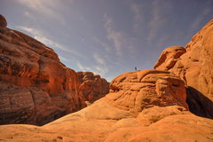 Rock Climbing Photo: scrambling above the slabby ascent into the next p...