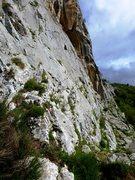 Rock Climbing Photo: The base of the left side of El Escalón