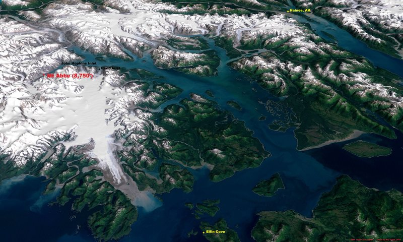 Glacier Bay from Landsat, 1999