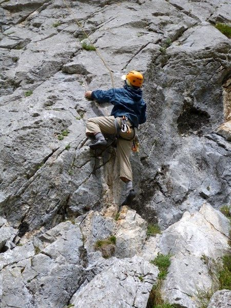 Rock Climbing Photo: Start of unknown route to the right of Placa Villa...