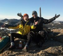Rock Climbing Photo: Leigh and brother Frank first summit of 2015