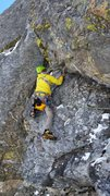 Rock Climbing Photo: Doug Shepherd on the second pitch of Analysis Para...