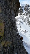 Rock Climbing Photo: Doug Shepherd on the 3rd pitch of Analysis Paralys...