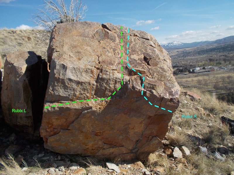 Rock Climbing Photo: The Cube boulder, start on the left side for Rubix...
