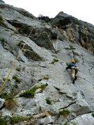 Rock Climbing Photo: Headin' towards the steep triangular roof, right s...
