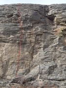 Rock Climbing Photo: All Been Done Before topo