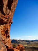 Rock Climbing Photo: On one of my favorite routes at Red Rocks. Idiots ...