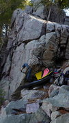 Rock Climbing Photo: Mike working the Wind Rider.