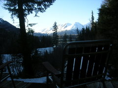 Rock Climbing Photo: Nice view of the Canadian-American border peaks fr...