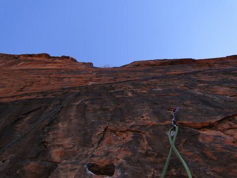 Rock Climbing Photo: Looking up p2