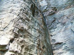Rock Climbing Photo: A from the ground view up at what I believe to be ...