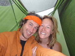 Rock Climbing Photo: One month in a one man tent with one sleeping bag ...