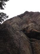 Rock Climbing Photo: The traverse left.