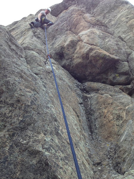 Just past the crux.