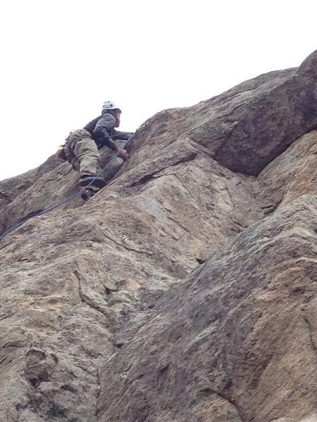 Rock Climbing Photo: At the top bulge.