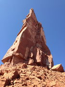 Rock Climbing Photo: Looking up at Kor-Ingalls on Castleton Tower