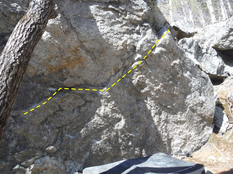 Rock Climbing Photo: A picture showing the line Nature Boy