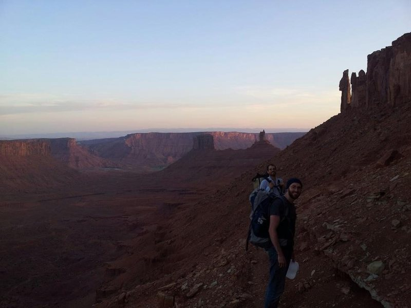 Rock Climbing Photo: Castleton approach at 5am with Dustin Clelen