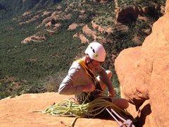 Rock Climbing Photo: top of 3rd pitch