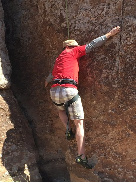 Rock Climbing Photo: The crux is the first few moves