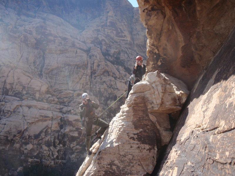 Rock Climbing Photo: Yah! Joan and Morrese looking back at us from Bula...