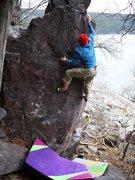 Rock Climbing Photo: Move to jug