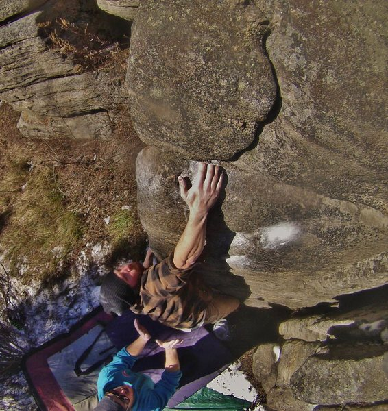 Rock Climbing Photo: Once you find the jug re-establish your feet and t...